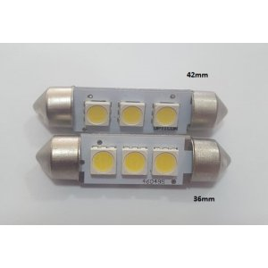 ΛΑΜΠΑΚΙ LED FESTOON , 3SMD 5050, 36mm, 1W