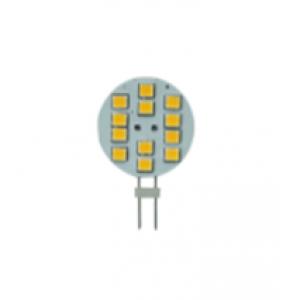 ΛΑΜΠΑΚΙ  G4 ΣΤΡΟΓΓΥΛΟ 1.8W 12LED ΘΕΡΜΟ ΛΕΥΚΟ ΠΛΕΥΡΙΚΟΙ ΑΚΡΟΔΕΚΤΕΣ 10-30VDC