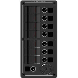 ΠΙΝΑΚΑΣ ΑΛΟΥΜΙΝΙΟΥ ΦΩΤΙΖΟΜΕΝΟΣ LED 7 ΘΕΣΕΩΝ, 2 USB